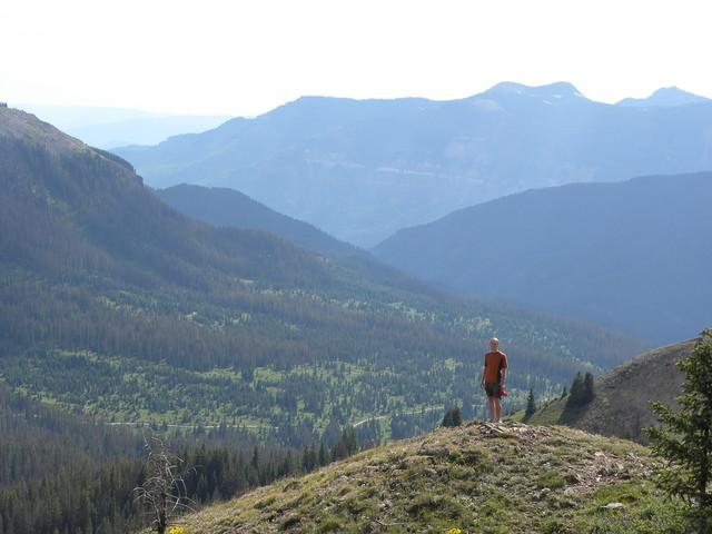 Looking West from near Lobo Overlook
