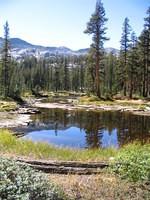 Small lakes along trail