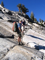 Tom and Mike on the granite slabs