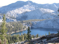 High above Lillian Lake, Madera Peak behind