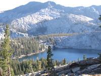 High above Lillian Lake, Madera Peak behind