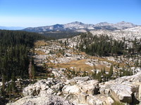 View from part way up to Post Peak Pass