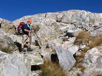 Tom on the odd grained granite boulders