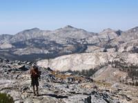 Mike below Post Peak Pass