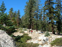 Jason and Tom on rocky trail