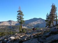 Jason and Tom hike above Lillian Lake