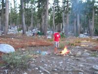 Flat Lake campfire