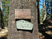 Junction sign, Fernandez Pass, Post Peak Pass