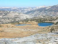 Nice lakes on Yosemite side