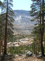 Opening, shows the mountain between us and Joe Crane Lake