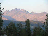 Alpenglow on the Minarets