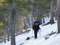 Snow hiking in San Gorgonio Wilderness