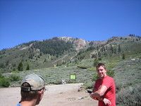 Jason Mike at Sawtooth Timber Gap trailhead