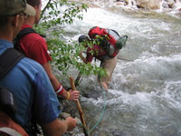 Tom's first try at crossing Middle Fork Kaweah River