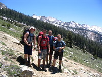 Group shot ascending to Timber Gap