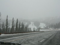 Wolf Creek Ski Area on wintry March day