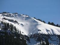 Some impressive off-trail ski tracks near the pass