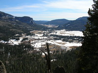 Lower overlook into Pagosa Country in March