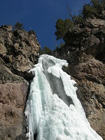 Icy Treasure Falls closer view
