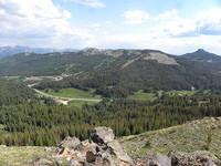 Wolf Creek Ski Area in July from Lobo Overlook