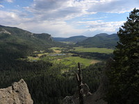 Lower overlook into Pagosa Country in July