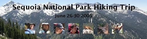 Old Sequoia NP 2005 webpage banner