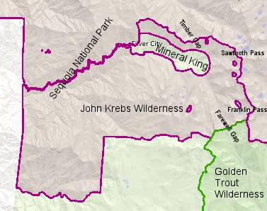 John Krebs Wilderness Map