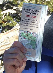 waterproof topographical trail map
