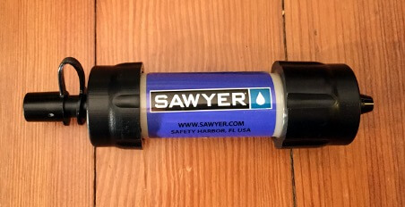 Sawyer Mini filter, isolated