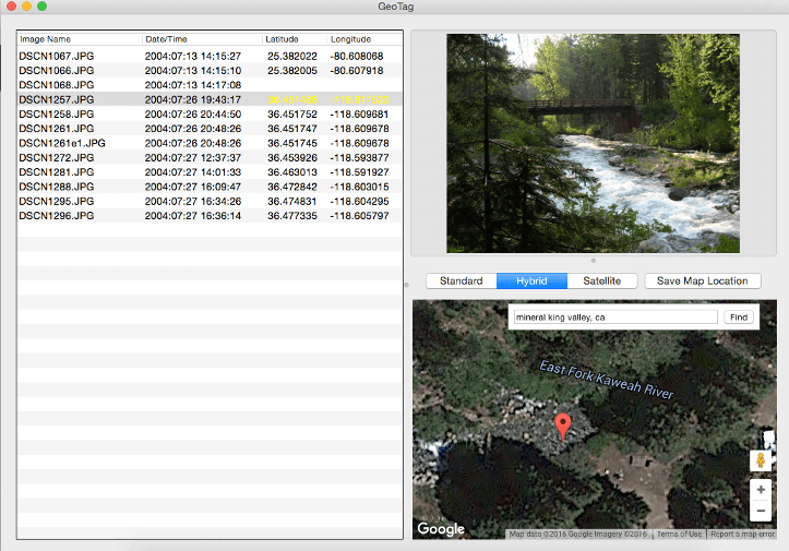 GeoTag program for Mac