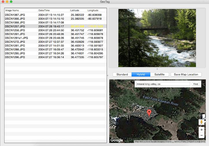 GeoTag program for Mac