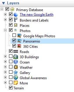 Google Earth new photos layer screenshot2