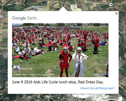 Photos Layer of Google Earth and Google Maps Transition with
